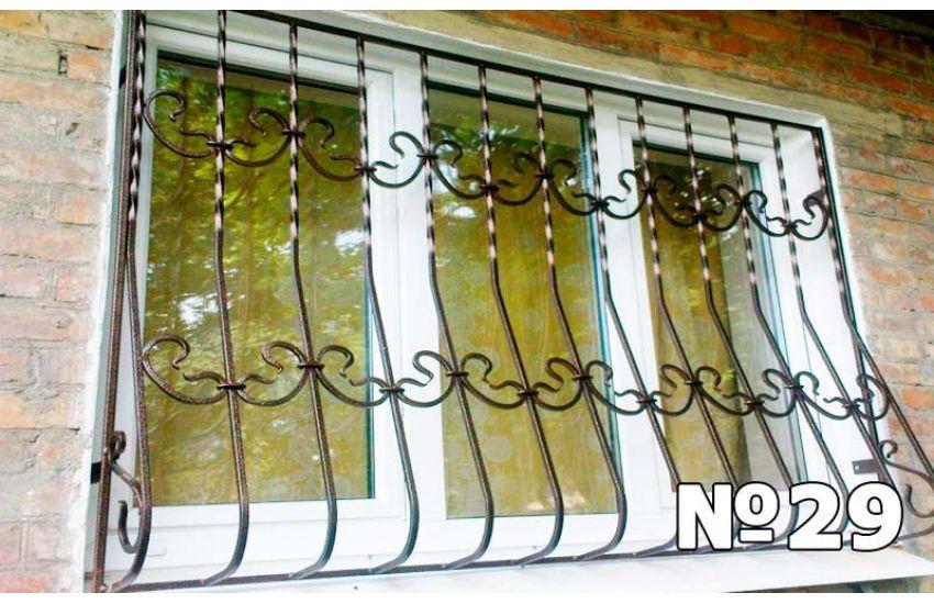 кованые решетки на окна цена за м2