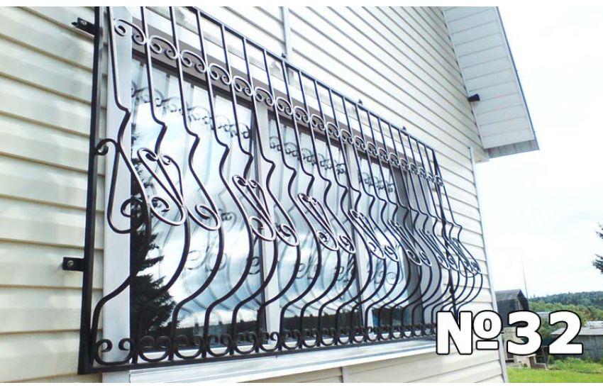 кованые решетки на панорамные окна