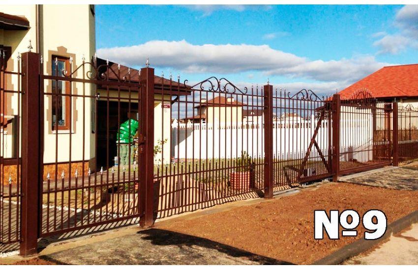 сварной забор из трубы