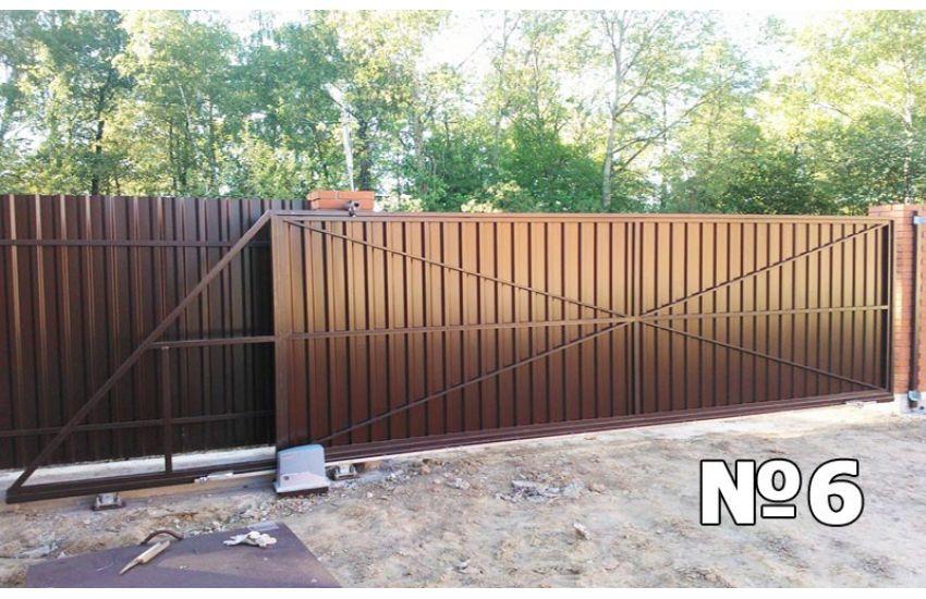 установка откатных ворот электроугли