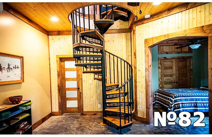 винтовые металлические лестницы на второй этаж