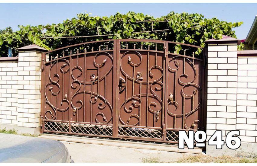 кованые ворота и калитка фото и цены