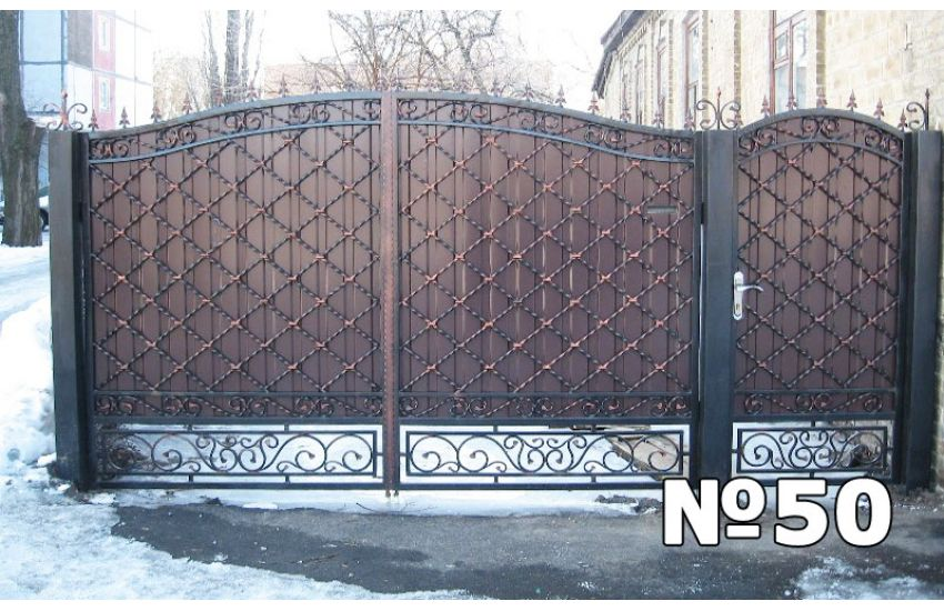 недорогие кованые ворота