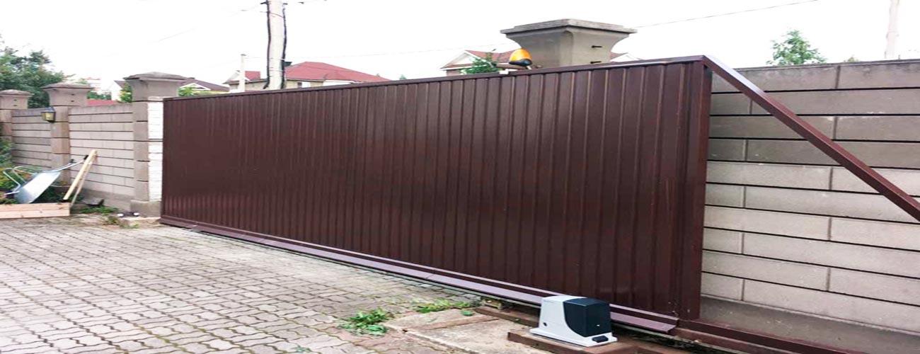 ворота с электроприводом михнево