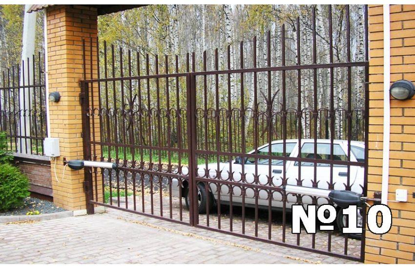 сварные заборы ворота