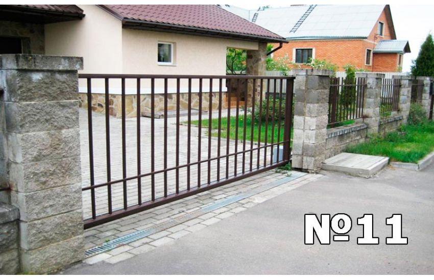 сварные откатные ворота