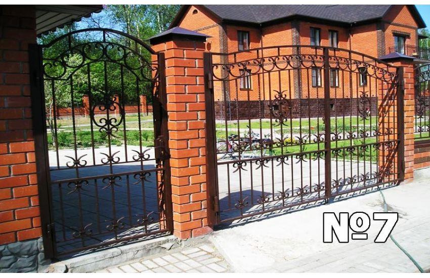 сварные кованые ворота
